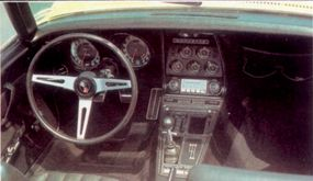 The cockpit of the 1969 Corvette was designed with pure performance in mind.