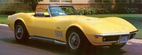 This 1969 Corvette Stingray 427 is finished in Daytona Yellow.