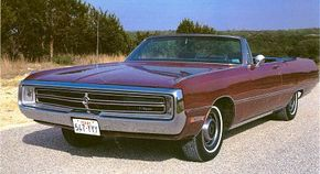 """Though lacking the flair of past letter-series cars, the 1969 Chrysler Three Hundred nonetheless featured hidden headlights and discreet """"300"""" badges to differentiate it from other 1969 Chryslers."""