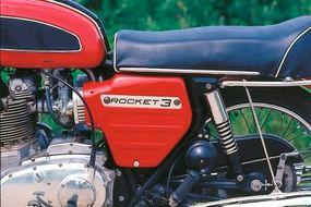 The potent 750-cc triple produced 58 horsepower.