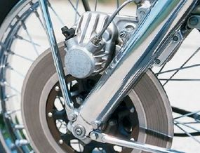 A front-disc brake on a street machine was a first.