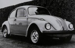 The 1974 Volkswagen Beetle Love Bug edition had sport wheels and blacked-out trim.