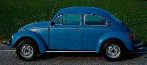Returning to its roots: The simple, inexpensive 1981 Volkswagen Beetle 1300 was produced at Volkswagen's Brazil factory for sale outside the U.S.