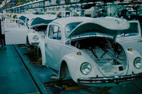 Shunned by upscale buyers, the Beetle remained a vital source of jobs and mobility in developing nations. Here are 1981 Bugs on the line in Brazil.
