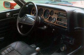 Full instrumentation came standard on the V-6 models in 1973.