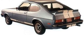 Europeans loved the Capri II, such as this one with Rally Cat trim, enough to build a third generation.