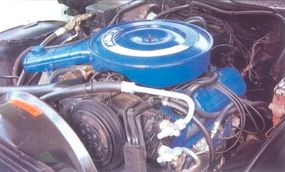 The LTD Convertible was powered by a 400 V-8 with a two-barrel carburetor.