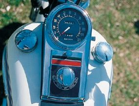 Large, simple, clear, in the Harley-Davidson way.