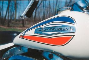 The 1971 Harley-Davidson FX Super Glide could be ordered with a special Americana paint scheme.