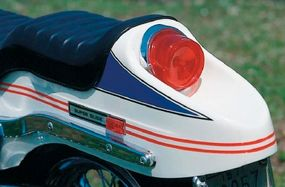"""The """"boat tail"""" rear fender was styled after the one that appeared on the 1970 Sportster."""