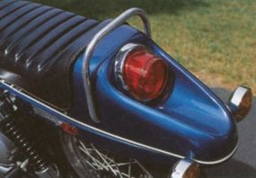 The boat-tail rear fender wasn't entirely popular with buyers.