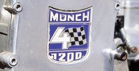 The bike's engine specifications were part of its badge.