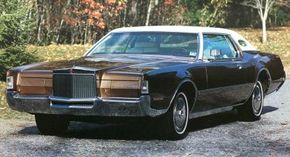 In 1972, the Lincoln Continental Mark IV's bumper was created before federal regulations outlawed the drop-center look.