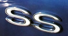 """The SS badges on the Chevelle coupe stood for """"Super Sport."""""""