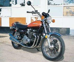 The 1973 Kawasaki Z-1 represented Kawasaki's effort to keep up with Honda. See more motorcycle pictures.