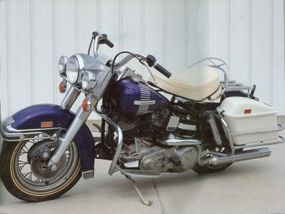 Models such as the 1973 FL Electra-Glide represented the brief marriage of Harley-Davidson and AMF.