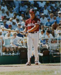 Mike Schmidt led the National League in homers in his second full season.