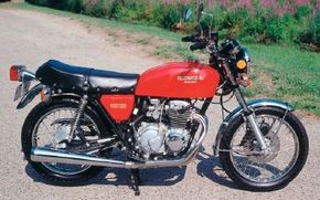 The affordable CB400 was among the few motorcycles of any price that had a six-speed transmission in 1975.