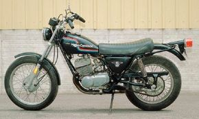 """Harley advertised the 1975 Harley-Davidson SS-250 as ideal """"For the discriminating road and highway rider."""""""