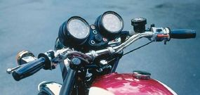 The 1975 Triumph Trident had a left-side shifter to comply with U.S. motorcycle regulations.
