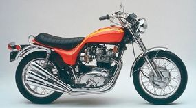 The X-75, designed by Craig Vetter of fairing fame, was a styling exercise based on the Trident. It was sold through Triumph dealers and is quite collectible.