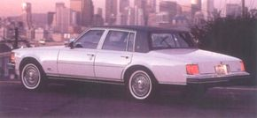 The wire wheel covers on this 1977 Seville cost extra.