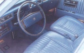 Instrumentation on the 1977 Seville was kept to a minimum, but a host of creature comforts came standard. Leather upholstery was available.