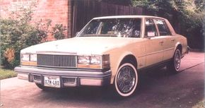 Like most of its kind, this Colonial Yellow 1978 Seville is powered by the 350-cube fuel-injected gasoline powerplant.