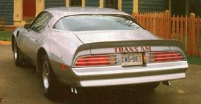 Because of government emission standards the 1976 Trans Am went from a 455 to a 200 horsepower engine.