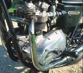 Bonneville's overhead-valve twin had been around since the mid 1960s 750 cc, from 650 cc