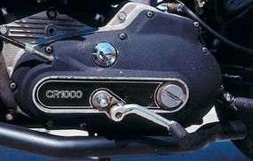 The shift lever was reversed on its shaft to make