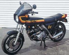 An aftermarket turbo kit turned the Z1-R into a Z1-R TC, the quickest bike of its day.