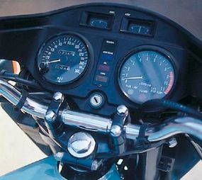 The Z1-R's instrument panel was integrated nicely with the