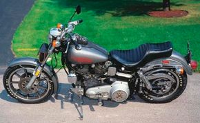 """The first Low Rider featured the frame and engine from the FL-series """"Big Twins"""" supported by the front end of the smaller XL Sportster models."""