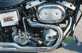 The big 74-cubic-inch V-twin exhaled through