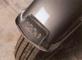 The rear fender displayed the engine specifications.