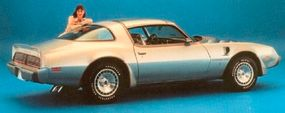 The 1979 10th Anniversary Trans Am came in a special two-tone silver paint and had unique dished wheels.