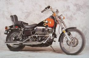 """The 1980 Harley-Davidson FXWG Wide Glide was a true """"chopper."""" See more motorcycle pictures."""