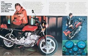 An early ad for the 1981 Honda CBX.