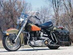 The 1981 Harley-Davidson Heritage Edition blended retro styling with modern suspension and brakes. See more motorcycle pictures.