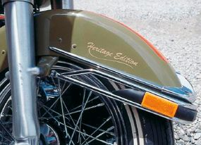For those who wondered what to call the green and orange dresser, the front fender clearly spelled it out.