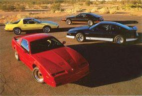 A quartet of 1987 Pontiac Firebirds