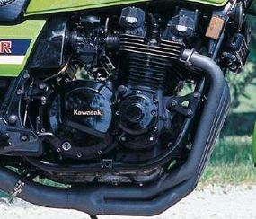 Kawasaki's 1015-cc double-overhead-cam four revved happily to 9000 rpm.