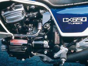 Th 1983 CX650T's turbocharged version of Honda's popular 650-cc V-twin had a robust 97 horsepower.