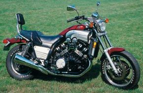 The powerful V-Max was introduced in 1985, and it would be years before another street bike could match its brutal acceleration. See more motorcycle pictures.