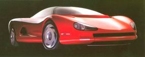 Chevy built three versions of the 1986 Corvette Indy concept car, one static example strictly for show, and two running prototypes.