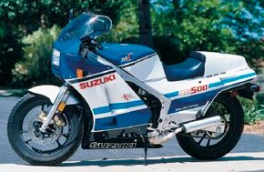 The 1986 Suzuki RG 500 Gamma weighed 340 pounds; 50 pounds lighter than its competition from Yamaha. See more motorcycle pictures.