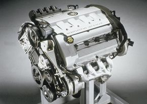 The 4.6-liter, 32-valve V-8 delivered 295 bhp and helped the Allante get to 60 mph in less than 7 secs.