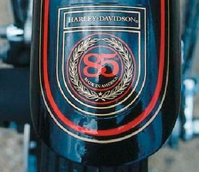 The 85th Anniversary decals also graced the