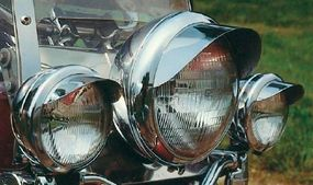 Dual spotlights had been common add-ons since the 1950s, and are no less useful today.